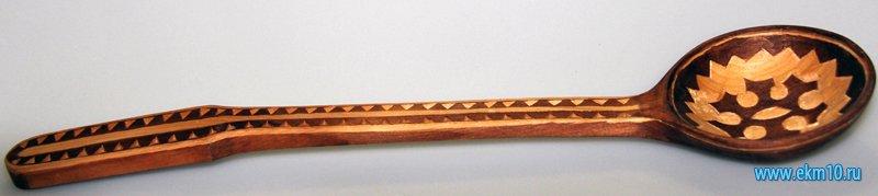Ложка деревянная с национальным орнаментом ханты