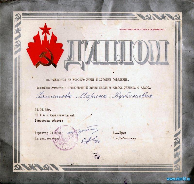 Диплом Хамитовой Марине Рубиновне